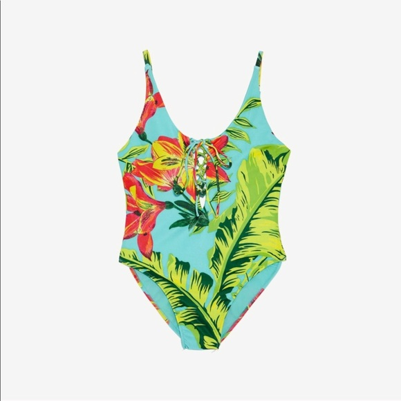 6dfa97e37b9 Zara Swim | Tropical Floral Print One Piece Bathing Suit | Poshmark